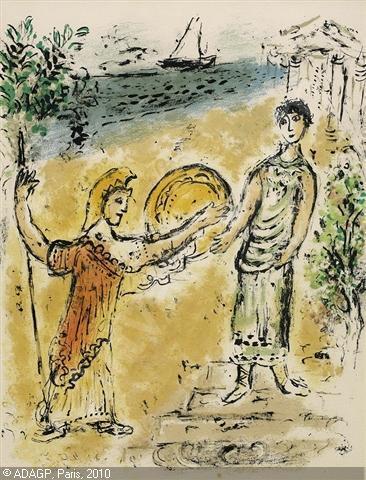 Athéna et Télémaque - Marc Chagall