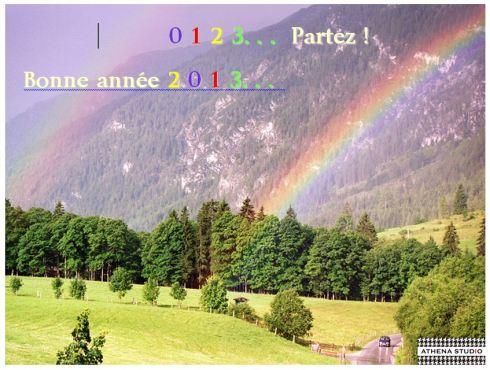 0,1,2,3,...Partez / Bonne année 2013